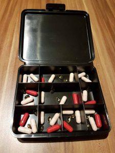 Tablettendose geöffnet